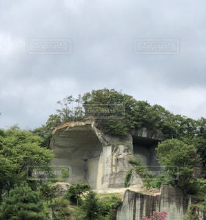 壮大な石の洞窟の写真・画像素材[1396131]