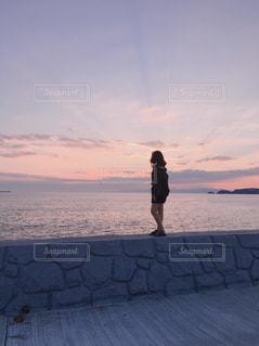 海の夕暮れの写真・画像素材[1396897]