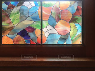 ステンドグラスの窓の写真・画像素材[1400134]