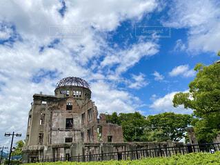 青空の下の原爆ドーム2021の写真・画像素材[4440925]