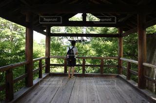 木製の橋の写真・画像素材[1398832]