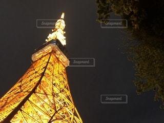 タワーは夜ライトアップの写真・画像素材[1399093]