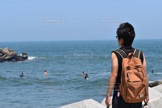 海を眺めての写真・画像素材[1399135]