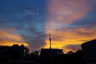 夕日がおりなすハーモニーの写真・画像素材[1399555]