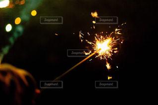 空に花火の写真・画像素材[1451591]