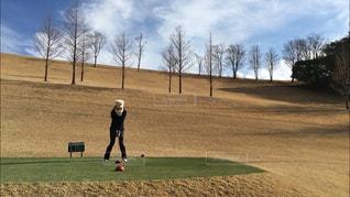 冬ゴルフの写真・画像素材[1405018]