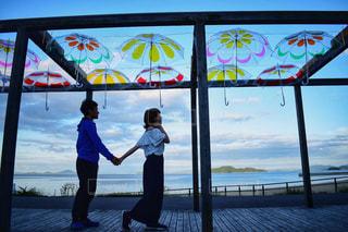 海と傘の写真・画像素材[1480401]