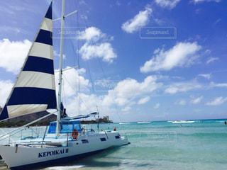 海とヨットの写真・画像素材[1404011]