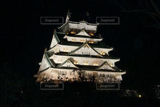 大阪城ライトアップの写真・画像素材[1405762]