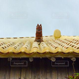 屋根の上のシーサーの写真・画像素材[1412485]