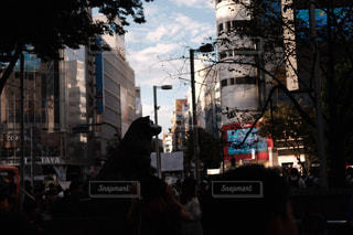 街の通りを歩いている人のグループの写真・画像素材[1413508]