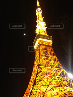 東京タワーと輝く月のようにの写真・画像素材[1407146]