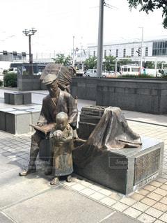富山の薬売り 銅像の写真・画像素材[1408445]
