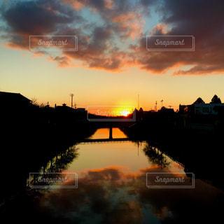 街の夕暮れの写真・画像素材[1422381]