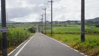 道の端にサインの写真・画像素材[1409740]