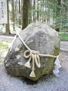 角行の立行石の写真・画像素材[1418311]
