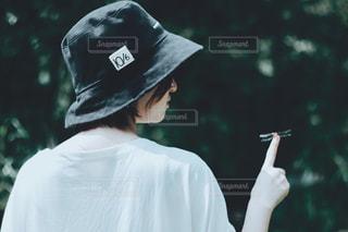 帽子をかぶった人の写真・画像素材[2375754]