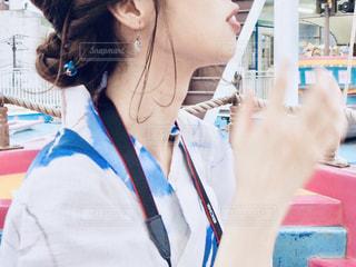 花やしきで浴衣デート♡の写真・画像素材[2380615]