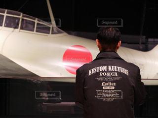 飛行機とオトコの写真・画像素材[1642486]