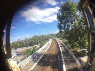 線路からの景色の写真・画像素材[1411559]