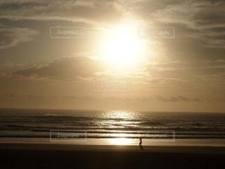 朝のビーチ散歩の写真・画像素材[1412881]