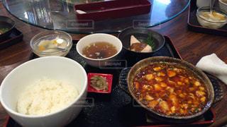 麻婆豆腐定食の写真・画像素材[1412797]