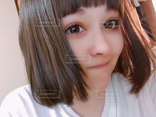前髪切り過ぎたの写真・画像素材[1416894]
