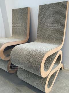 ダンボール椅子の写真・画像素材[1444565]