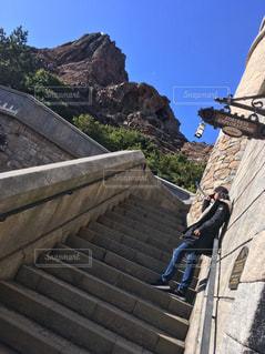 有名リゾートのどっかの階段🐭💘の写真・画像素材[1420608]