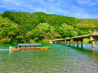 四万十川 高瀬の沈下橋の写真・画像素材[1437610]