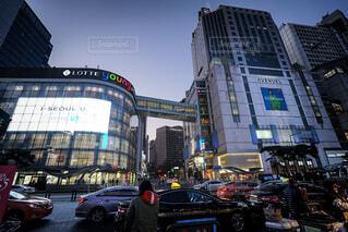 ソウルの夕方の写真・画像素材[3793578]