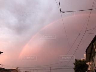 虹と夕陽のコラボの写真・画像素材[1490796]