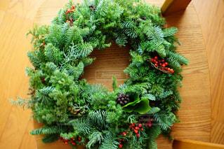 クリスマスリースの写真・画像素材[1441620]