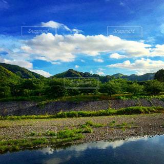 川と山と空の写真・画像素材[1694374]