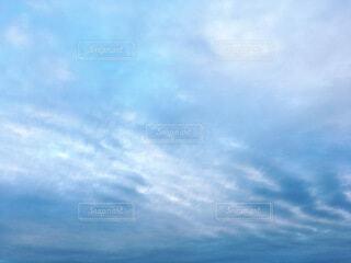 波状雲の写真・画像素材[4026141]