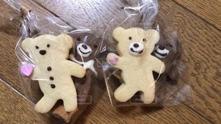 手作りくまちゃんクッキーの写真・画像素材[2969027]