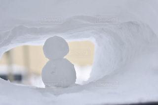 小さな雪だるまの写真・画像素材[1432870]