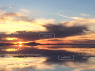 空と夕日の写真・画像素材[1428658]