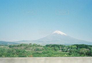 真っ青な空と富士山の写真・画像素材[2030247]
