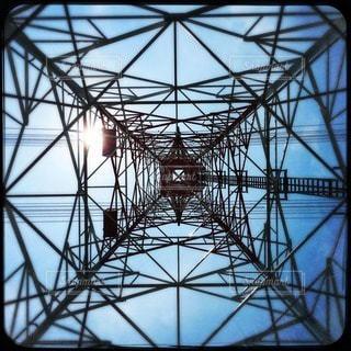 真下鉄塔の写真・画像素材[86299]