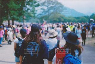 フジロックで次のステージに向かう人達。の写真・画像素材[1430305]