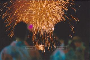 空に花火の写真・画像素材[1430310]