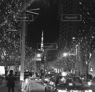 モノクロの東京タワーの写真・画像素材[1430798]