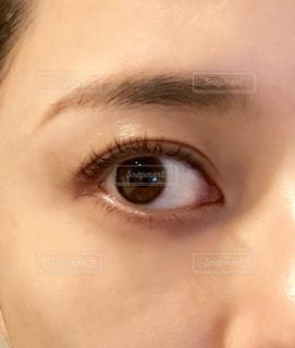 目のアップの写真・画像素材[1607359]