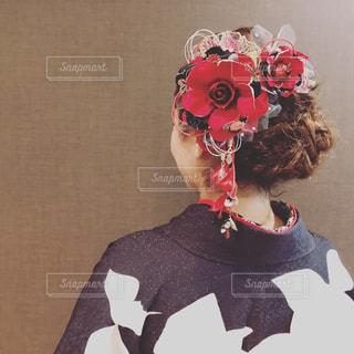 成人式のヘアーセットの写真・画像素材[1431510]
