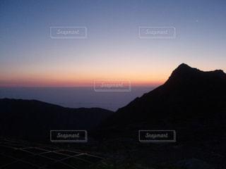 駒ヶ岳 日没の様子の写真・画像素材[1434406]