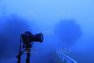朝霧の中、待機中の一眼レフの写真・画像素材[1646191]