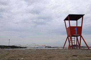 海の監視台の写真・画像素材[2263345]