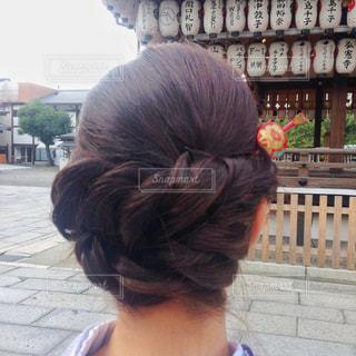 着物を着た時の髪型の写真・画像素材[1434685]