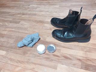 黒の靴のペアの写真・画像素材[1734594]